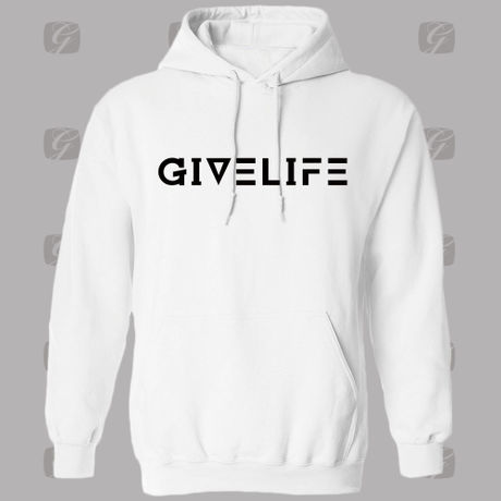 """Give Life """"New Logo Hoodie"""" White"""