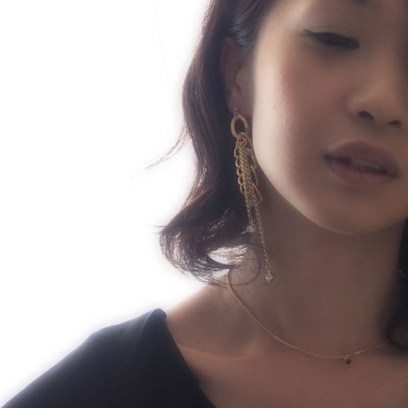 ▼chain×clear pierced earrings▼