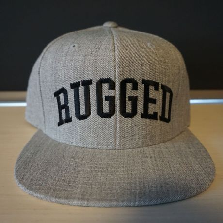 """RUGGED """"ARCH LOGO"""" snap back (Gray × Black)"""