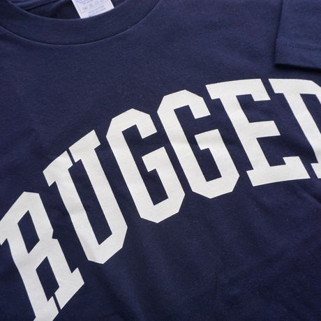 """RUGGED """"ARCH logo"""" tee(Navy×White)"""