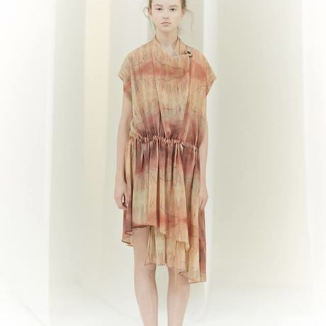 SHIROMA 16S/S chase the unknown cache-cœur dress