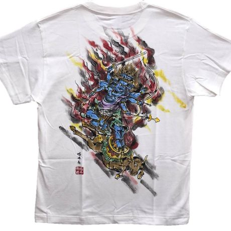 T-shirts men Daiitoku Myo-O color Buddhist Japanese Art