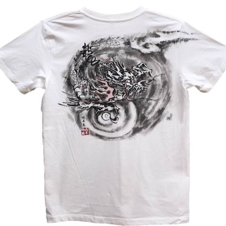 T-shirts men Dragon part2 white Japanese Art