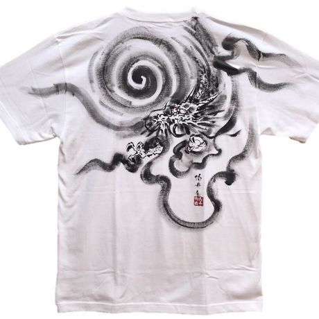 T-shirts men Dragon part1 white Japanese Art