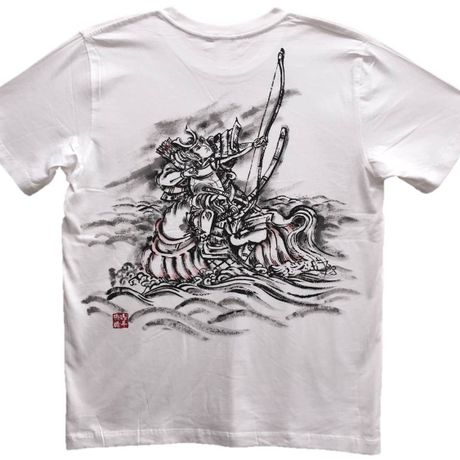 T-shirts men Nasu no Yoichi white Japanese Art