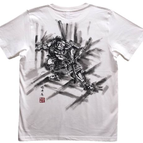 T-shirts men Asahina white Japanese Art