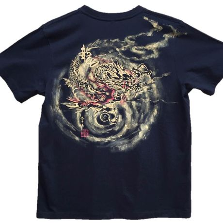 T-shirts men Dragon part2 black Japanese Art