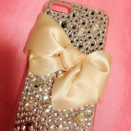 peach pink♡big ribbon♡ iPhone5用ケース