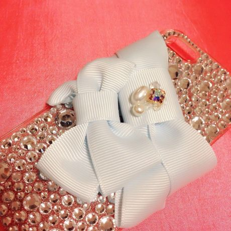 baby blue♡w ribbon♡iPhone5用ケース