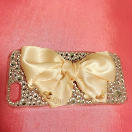 peach pink♡big ribbon♡iPhone5用ケース
