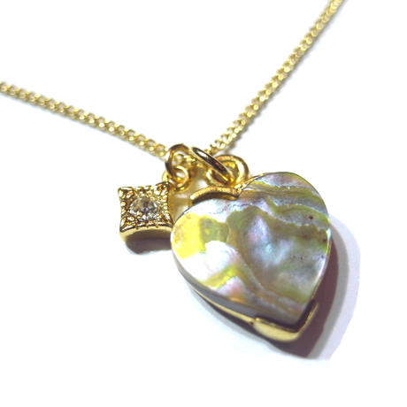 stone heart necklace A