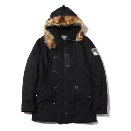 CUTRATE DENIM N3-B TYPE JACKET BLACK