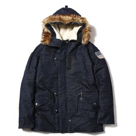 CUTRATE DENIM N3-B TYPE JACKET INDIGOBLUE
