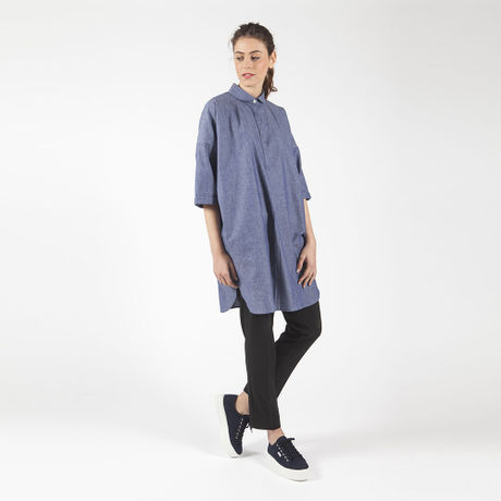 Wide shirt dress HD7101