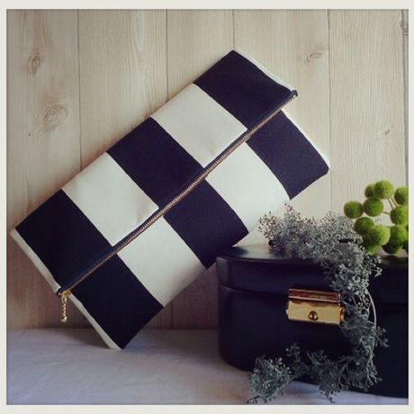 Clutch&ポーチBag/black and white