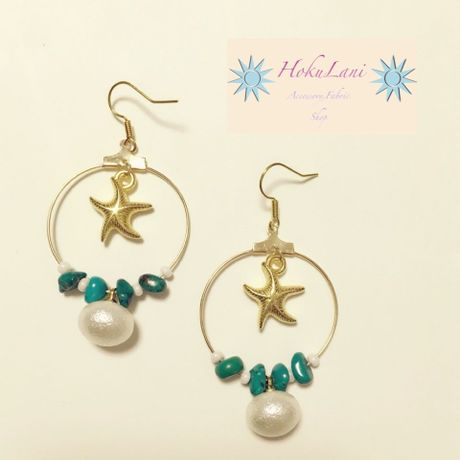 SwingPearl Starfishピアス