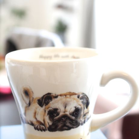 *「Happy Life with Dogs 陶瓷食器系列」*咖啡杯 Free Delivery (包郵)