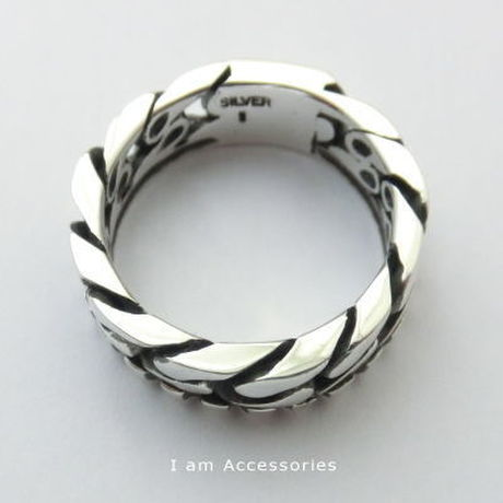 【IR0022】CHAIN DESIGN RING SILVER925