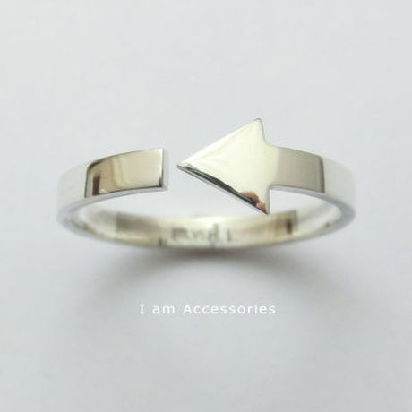 【IR0027】Arrow Ring Silver925 #17