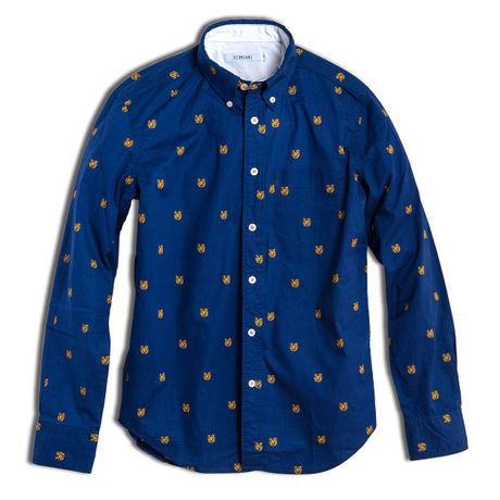 HIDDEN BEAR -SHIRT- NAVY (MAN)