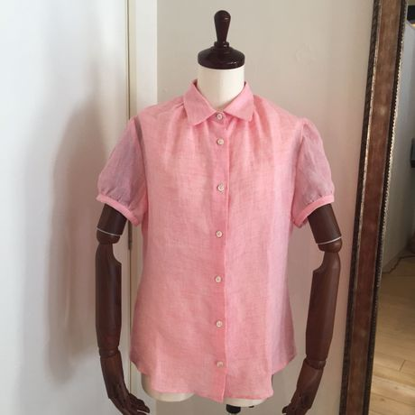 LEQUIO  Puff  Sleeve  Shirt  Pink