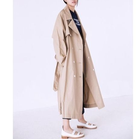 vintage British style double-breasted coat
