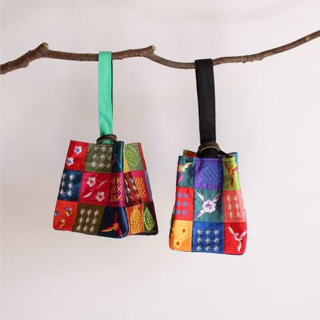 Vietnam Fair - pouch three rings embroidery