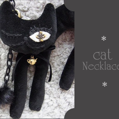 cat necklace☆黒子