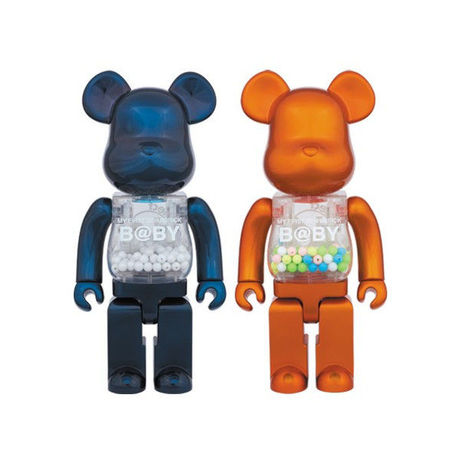 MY FIRST BE@RBRICK Navy & Orange 400%