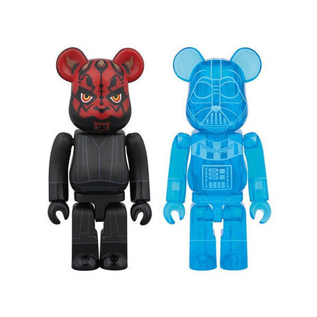 BE@RBRICK DARTH VADER( HOLOGRAPHIC Ver. ) & DARTH MAUL  2 PACK