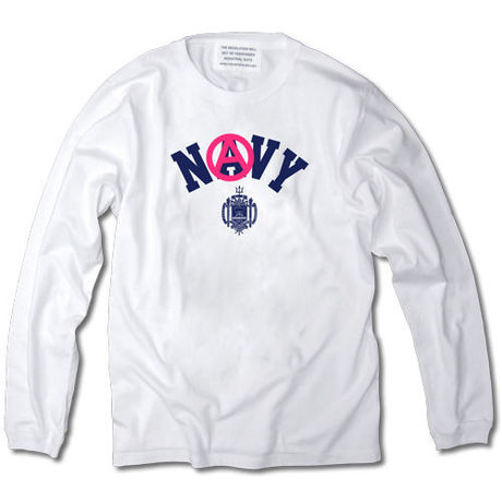 ANARCHY NAVY LONG SLEEVE TEE【WHITE】