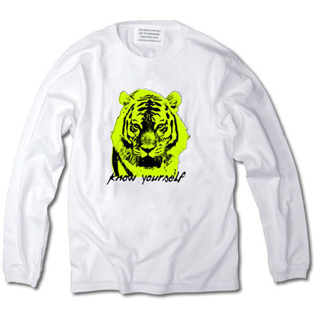 KNOW YOURSELF LONG SLEEVE TEE【WHITE】