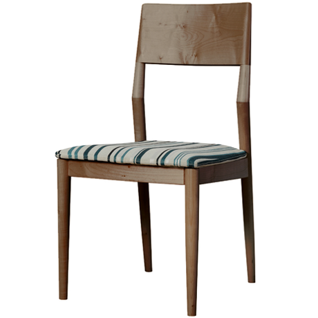 FACILE DINING CHAIR STRIPE (WALNUT)