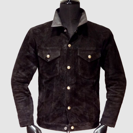 3rd Leather Jacket Cowhide & Hosehide Brass Button