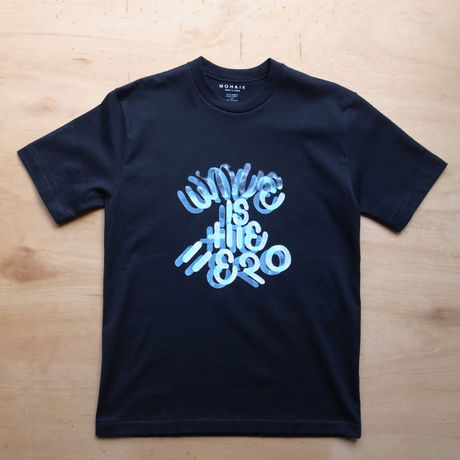 WAVE IS THE HERO Tシャツ BLACK 2COLOR