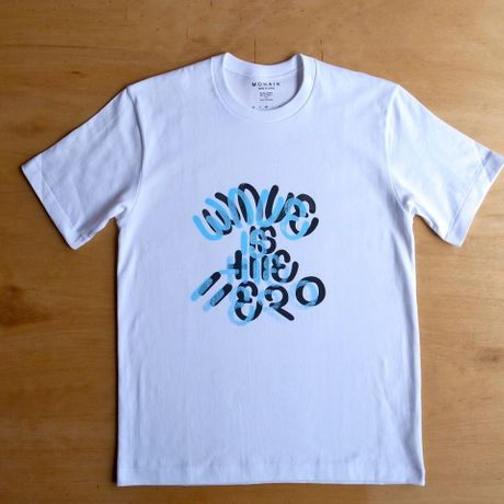 WAVE IS THE HERO Tシャツ WHITE 2COLOR