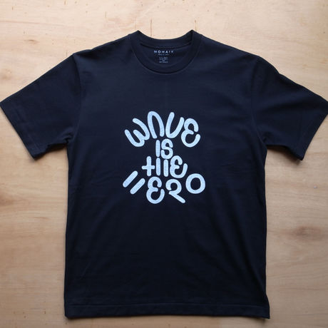 WAVE IS THE HERO Tシャツ BLACK