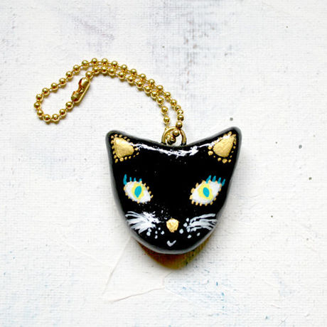 ○INTOMOMI original○Black cat キーホルダー