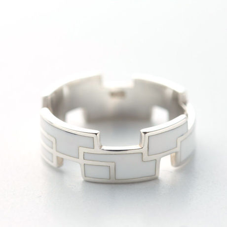 RING RECTANGLE(W) 【COLOR : WHITE】