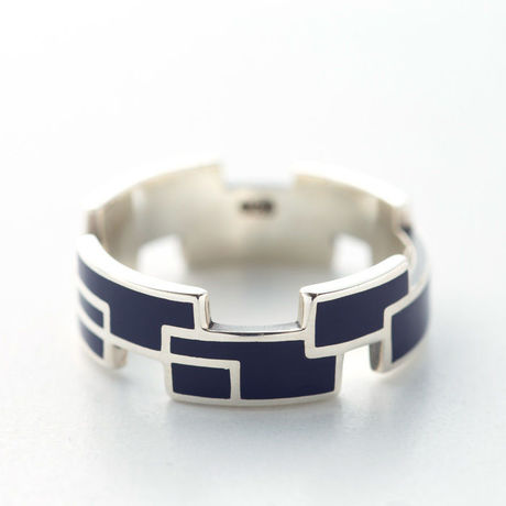 RING RECTANGLE(W) 【COLOR : MIDNIGHT BLUE】