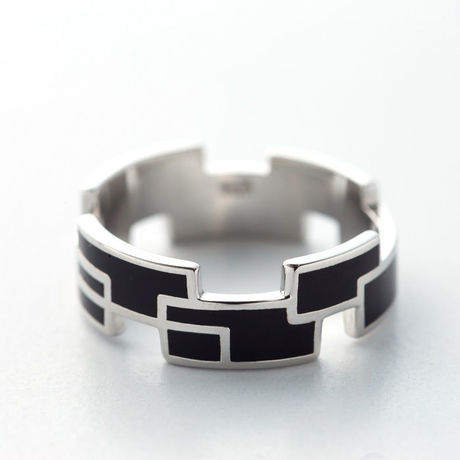 RING RECTANGLE(W) 【COLOR : BLACK】