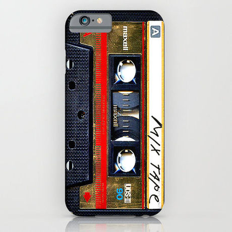 classic retro Gold mix cassette tape iPhone6ケース  society6(ソサエシティシックス)