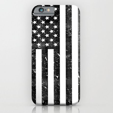 Dirty Vintage Black and White American Flag