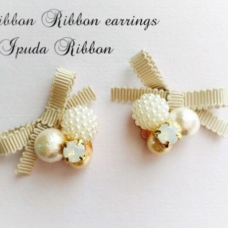 【再販】Ribbon Ribbon earrings byIPUDA RIBBON