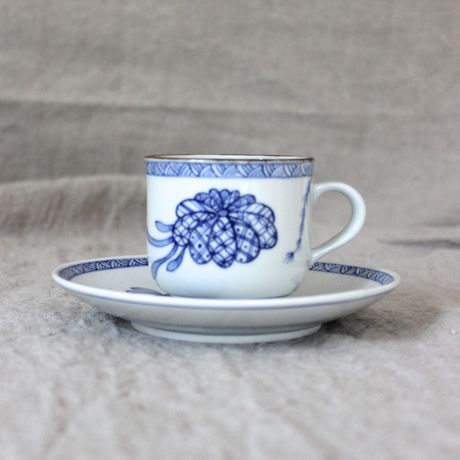 coki pottery/cup&saucer shell C&S-SH