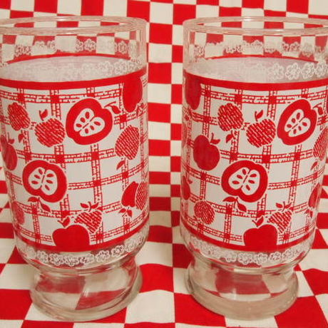 Anchor Hocking Red Apple Tumbler (L)