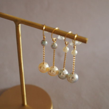 AKOYA Baroque Pearl  Earrings
