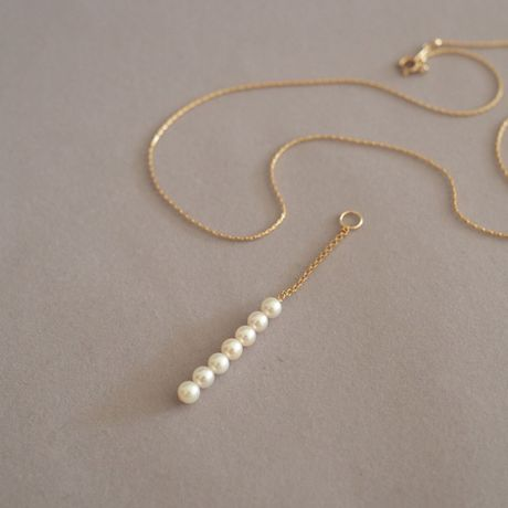 【Charm】AKOYA Pearl Line Y-Necklace