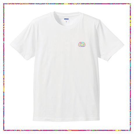 color brain one point T-shirt