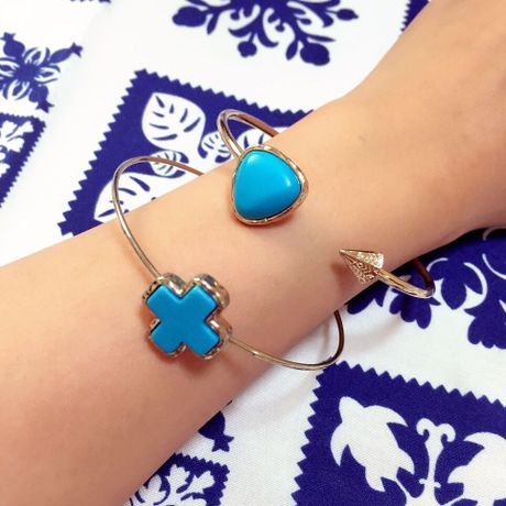turquoisebangle 2set